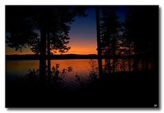 Summer evening near the lake (patrick.tafani) Tags: lake lac sweden suède evening soirée eau water bleu blue orange skeberg darlana summer été sverige