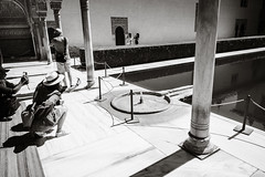 Small Fountain (Poul-Werner) Tags: alhambra andalusia andalusien blackwhitephotos gislevrejser granada spain architecture bw documentary geometry reportage street travel travelbycoachorbus granadaprovince
