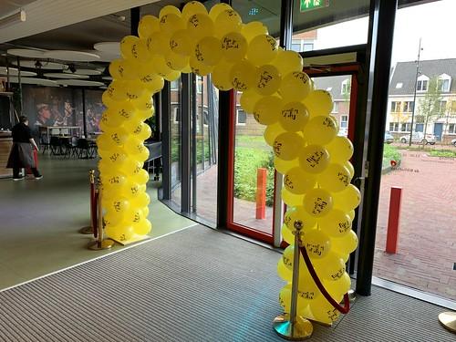 Ballonboog 6m Bedrukt Gemeente Hellevoetsluis