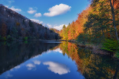 Egelsee (ceca67) Tags: lake cloud nature reflection autumn season switzerland aargau svetlanaperic