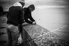 """""""- Il y a des choses dans la vie qui pour moi sont essentielles. - Comme quoi par exemple ? - La mer, les humains et bien sûr la photographie. - Ah.. ? - Et lorsque les trois sont réunies, c'est un instant de bonheur."""" (LACPIXEL) Tags: photographie fotografía photography bonheur felicidad happiness pêche pesca fishing fisherman pêcheur pescador mer mar sea dieppe normandie france canneàpêche cañadepescar fishingrod homme man hombre humain human humano chosesde lavie cosasdelavida nikon nikonfr noiretblanc blancoynegro blackwhite flickr lacpixel"""