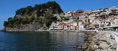 Parga, Greece (robin denton) Tags: parga greece ioniansea townscape town castle panoramic seaside resort venetian