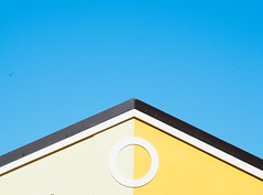 Minimal (juliavaganova) Tags: blue roof sky colors yellow minimal details