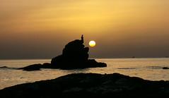 En calma / In calm (José Manuel Vaquera) Tags: mar sea contraluz sunrise amanecer