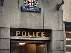 Gotham (sixthland) Tags: blipfoto police sign london rx100m2 flare