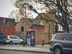 Brick building (sixthland) Tags: rx100m2 building balham brick flare phonebox