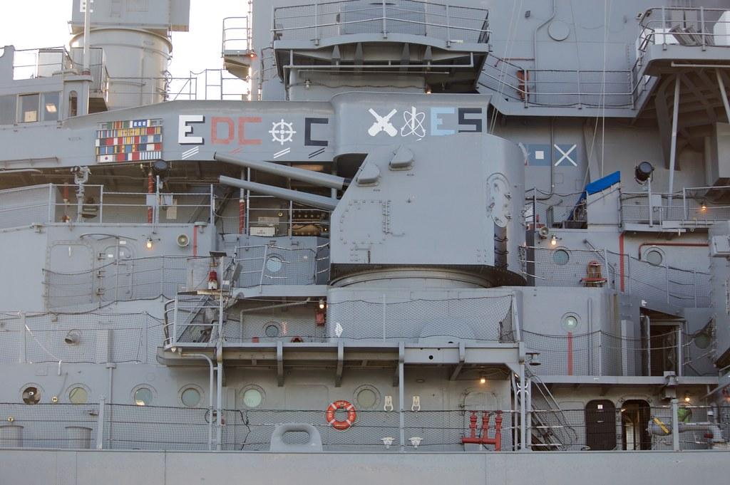 BB-61 USS Iowa  port forward 5 inch dual purpose turret DSC_0428