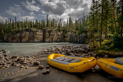 Inflatables (daviddalesphoto) Tags: athabascafalls canadianrockies alberta inflatables rafting landscape
