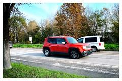 Red Renegade (Moro972) Tags: red day jeep renegade giorno auto car border cornice tree albero 2019 road street italy strada italia wheels rosso iphone11