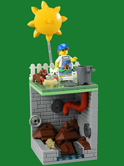 CMF Series 19 Vignette - Dog Sitter (justin_m_winn) Tags: lego cmf series 19 vignette dog sitter collectible collectable minifigure
