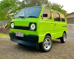 Jellybean mags (_honez) Tags: limegreen jellybean mag wheels suzuki carry st90v led headlights chin spoiler green van kei keitora car vehicle kustom custom classic