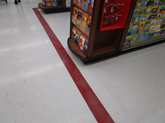 Retro Red Line (Random Retail) Tags: walmart greece ny store retail 2018
