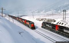 New Year's Eve at Top (jamesbelmont) Tags: railroad snow train utah railway locomotive coal ge riogrande southernpacific emd sd40 drgw soldiersummit c449w utahrailway