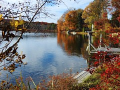 Lake George on a fine autumn day... (Jane Lazarz Nature Photography) Tags: walkingnewengland janelazarz massachusetts fallinnewengland nikonp900 nikon massachusettsautumn autumn newenglandcountryside westernmassachusetts nikonnature autumninnewengland lake water lakegeorge walesma
