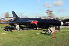 G-BWAF (wiltshirespotter) Tags: bournemouthaviationmuseum hurn hawker hunter f6