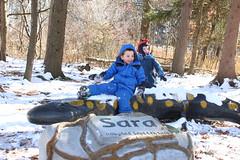 salamander bench (Audubon Community Nature Center) Tags: sara salamander bench kids winter