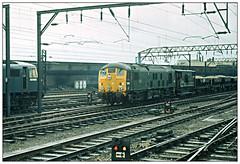 Crewe in '74 (david.hayes77) Tags: class24 class83 83008 5030 sulzer type2 crewe 1974 highspeedektachrome freight ballast cargo engineerstrain cheshire 24030