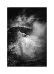 Amazing Iceland - Secret Lagoon II (Passie13(Ines van Megen-Thijssen)) Tags: ijsland iceland island secretlagoon geysir geiser hotspring canon blackandwhite bw sw zw wartwit monochroom monochrome monochrom inesvanmegen inesvanmegenthijssen