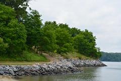 Banks of the York River (Jake (Studio 9265)) Tags: virginia yorktown historic va usa united states america 2019 summer path trail banks york river rocks trees green
