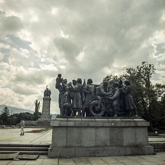Monument to the Soviet Army – Sofia, Bulgaria (Alfred ter Wal) Tags: color portra400 bulgaria sofia soviet monument