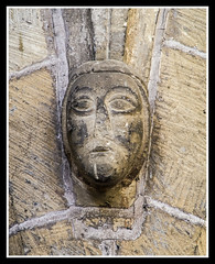 Carved Stone Face (veggiesosage) Tags: holytrinity everton church historicchurch gradeiilisted normanchurch pentaxks2 nottinghamshire bassetlaw hdpentaxda55300mmf4563edplmwrre