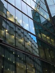 Face to face (Iris_14) Tags: architecture reflection abstract london londres reflet glass verre geometry morelondon londonbridgecity riverside