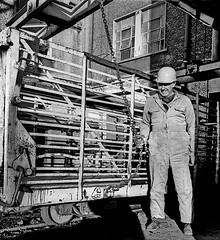 ESB Allenwood - Manning the chains - March 1991. (2c..) Tags: esb allenwood peat worker 2c watermarked 2cimage film nikkormat kodak hertitage 1991 bog ireland industry