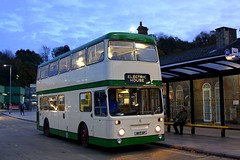 Moonlight feels right (Chris Baines) Tags: ex ipswich buses 1976 leyland mrt 6p railway station atlantean