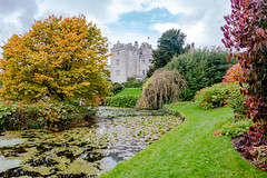 Sizergh Castle and garden (Keith now in Wiltshire) Tags: sizergh castle mansion statelyhome building architecture listed nationaltrust lakedistrict nationalpark garden pond lake water grass lawn tree shrub autumn colour sky landscape cumbria english england hdr