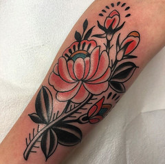 Courtney O'Shea - Black 13 Tattoo