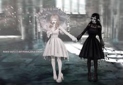 ROSY OUTFIT (HARO SL) Tags: haro harajuku secondlife sl 2ndlife anime gothic maitreya kemono utilizator dress umbrella rosy shoes neckerchief tram bonbon