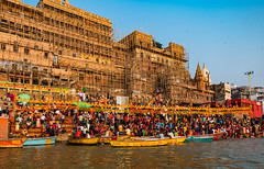sun shine on ghats (Abhijit.sen) Tags: urban urbanscape holycity ganges ghats celebration festivals vibrant colourful incredibleindia uptourism ghatsofvaranasi varanasi