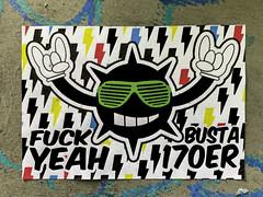 - Fuck Yeah - (PAPFOO) Tags: street streetart stuttgartstreetart busta busta170 pasteup