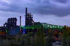 Landschaftspark Duisburg Nord (isabel.benkert) Tags: landschaftspark duisburg lichter lights farben colors abend evening hochofen