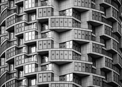 In the Round (Joseph Pearson Images) Tags: building architecture abstract oneparkdrive herzogdemeuron london blackandwhite mono bw