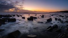Remnants (Justin Cameron) Tags: blastbeach durhamcoast sunrise coastal leefilters dawn rocks seascape canon5dmkiii canonef1635mmf4lisusm leegraduatedfilter seaham leelittlestopper