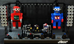 The Chemical Brothers (Stefan Schindler) Tags: lego moc afol chemical brothers robots under influence george mildred stage electronic music synthesizer rom rowlands ed simons foitsop