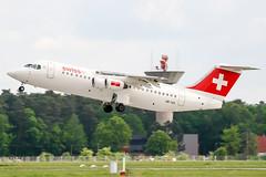HB-IXS (PlanePixNase) Tags: aircraft airport planespotting haj eddv hannover langenhagen swiss british aerospace avro rj85