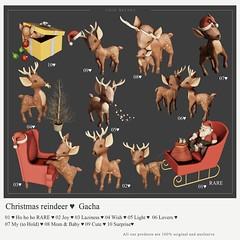 {YD} Christmas Reindeer ♥ ({Your Dreams}) Tags: christmas reindeer cute cutedecor gacha mesh100original sl whimsicalevent whimsical giveway