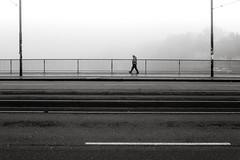 Im Nebel (Deinert-Photography) Tags: streetfotografie flickr deutschland nebel wetter fujifilmx100f schwarzweis bremen blackwhite street schwarzweiss cityschlachte fusgänger citylife diesigkeit dunst fog hb hansestadt streetart streetphoto streetphotography ubanphotography urban brouillard mist nebbia nebula