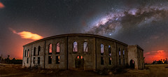 Madagascar Cathedral (Wayne Pinkston) Tags: cathedral abandoned church old decaymadagascar night sky nightsky madagascarnight fires nightphotography nightlandscape waynepinkston waynepinkstonphotocom lightscapercom stars starrynight starrysky milkyway galaxy astrophotography landscapeastrophotography widefieldastrophotography panorama nightpanorama