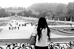 ....the perfect photo.... (christikren) Tags: austria christikren city candid europe international monochrome noiretblanc österreich panasonic photography perspective photo sw bw tourist femaletourist lady schönbrunn gloriette woman people garden history wien vienna palaceschönbrunn street streetphotography imperial schönbrunnerschlosspark urban fog human