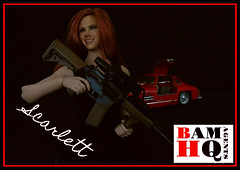 Scarlett (prototype poster) (Blondeactionman) Tags: bamhq bamcomix agent of bam poster scarlett one six scale doll phicen photography