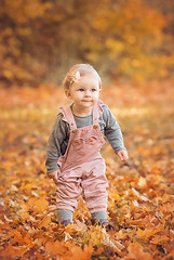 Mia - the cutest girl ever (nicolewitschass) Tags: toddler girl pink cute smiling child childrenphotographer family familyphotographer familyportrait childhood childphotography outdoors outside natural light fall autumn leaves orange brown yellow colors session nikon d750