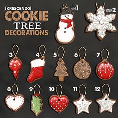 [Kres] Cookie Tree Decorations ([krescendo]) Tags: kres krescendo christmas xmas secondlife sl virtualworld tannenbaum