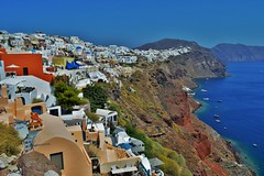 Oia Village (feray umut) Tags: travel landscapes places architecture culture greece oia water