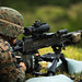 U.S. Marines participate in an M240B machine gun range