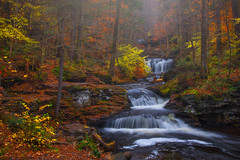 Fall Romance (Darren White Photography) Tags: waterfalls fallcolor foggy moody sigmalens darrenwhite darrenwhitephotography longexposures