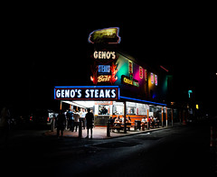 Rediscovering the Americas (Trey Ratcliff) Tags: pennsylvania philadelphia steak cheese bar grill diner neon sandwich treyratcliff stuckincustomscom america tour street people night dark philly hdr