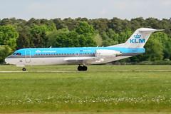PH-KZL (PlanePixNase) Tags: aircraft airport planespotting haj eddv hannover langenhagen klm cityhopper fokker 70 f70
